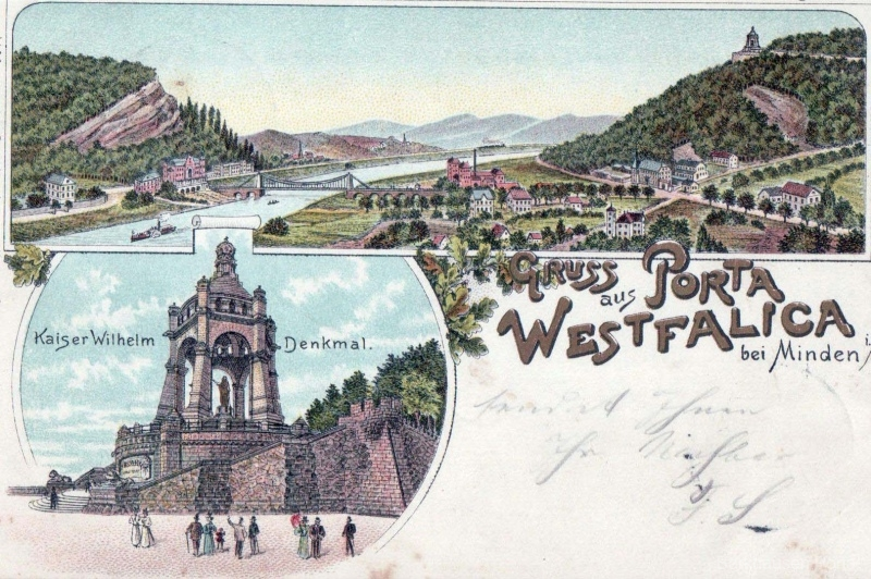 Kaiser-Wilhelm-Denkmal, Porta Westfalica, Kettenbrücke, Hotel Kaiserhof