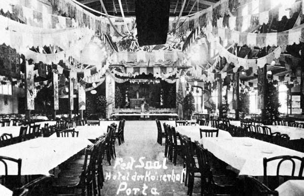 Altes Foto des Saals im Hotel Kaiserhof