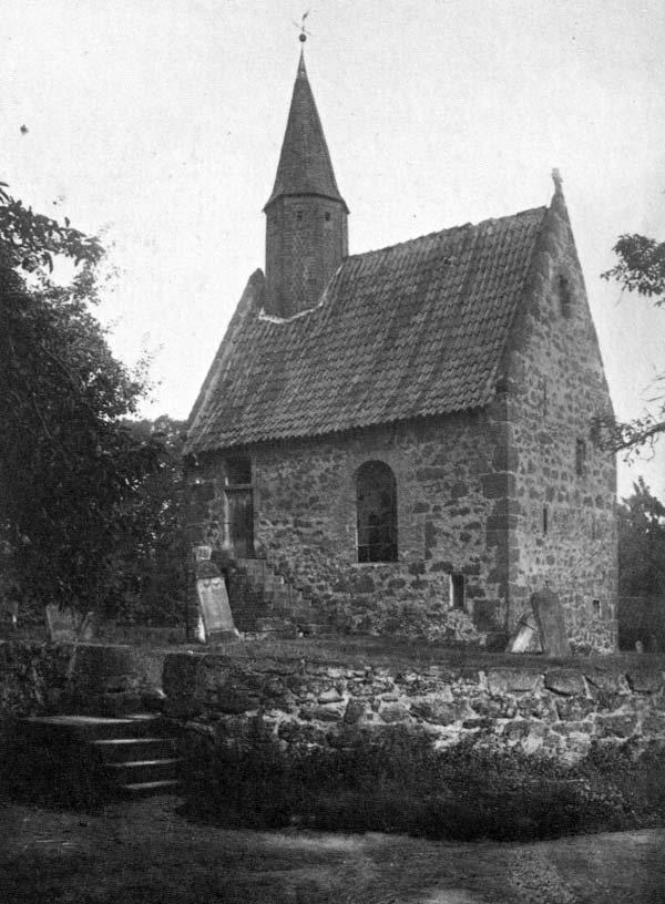 Alte Aufnahme der Dorfkapelle