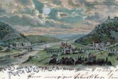 Die Porta Westfalica im Mondenschein