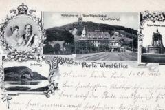 Wittekindsberg mit Kaiser-Wilhelm-Denkmal und Hotel Kaiserhof