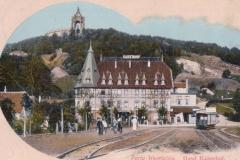 Hotel Kaiserhof mit Straßenbahn
