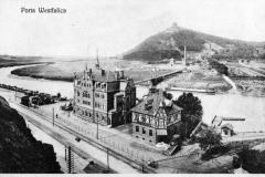 Altes Foto von der Porta Westfalica