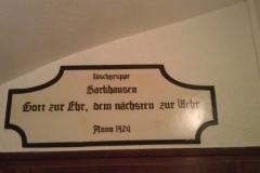 Leitspruch der Löschgruppe Barkhausen im Treppenhaus