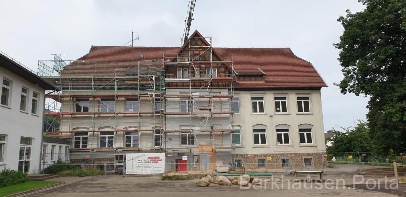 Sanierung des alten Schulgebäudes 2020 Rückseite