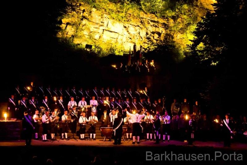 Zapfenstreich in der Goethe Freilichtbühne 2011