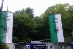 Festliches geschmücktes Schützenhaus zum Schützenfest