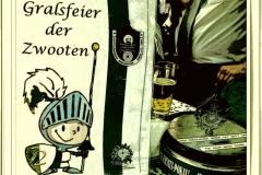 """Infotafel zur """"Gralsfeier"""" der Zwooten Kompanie"""