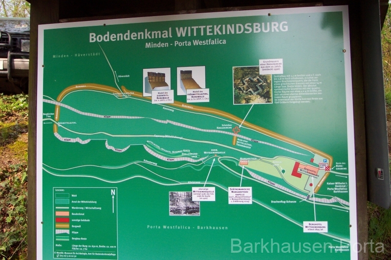 Infotafel Wittekindsburg